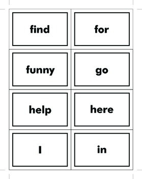 220 Dolch Sight Words Flash Cards
