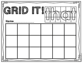 220 Dolch Sight Words Hands On Grid Copying
