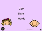220 Dolch Sight Words with Words read to students
