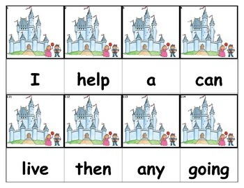 Dolch Words Flashcards - Castle