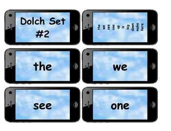 Dolch Words Flashcards Shapes: Cell Phone