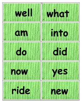 Dolch Words Flashcards: Chenille