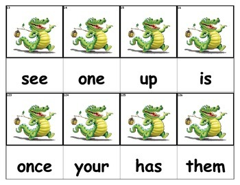 Dolch Words Flashcards - Crocodile