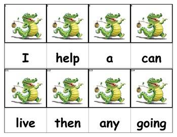 Dolch Words Flashcards - Crocodile