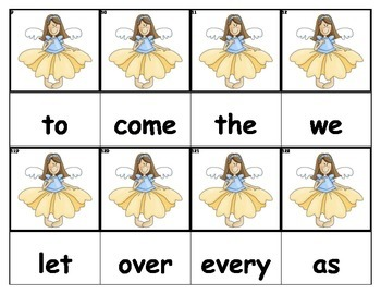 Dolch Words Flashcards - Fairy