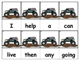 Dolch Words Flashcards - Monster Truck