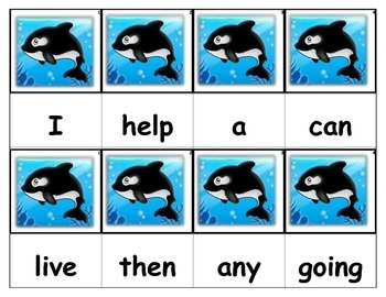 Dolch Words Flashcards - Orca