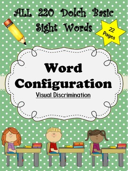 Dolch Words Worksheets: Word Configuration