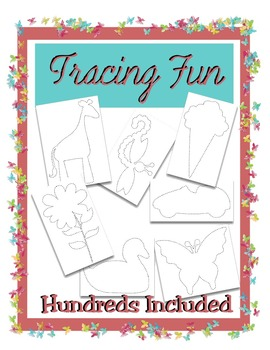 220 + Tracing Pictures - Fine Motor Art Activity - Animals, Plants, Insects Plus