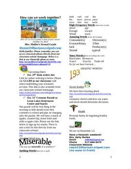 2.2.3 Scarcity Reading Street 2nd Grade Newsletter Unit 2 Week 3