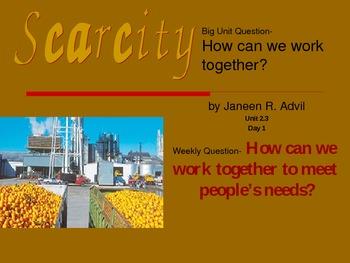 2.2.3 Scarcity, Reading Street, 2nd Grade, Unit 2 Week 3 Power Point