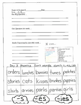 2.2.4 RS Weekly Work Packet, Second Grade, Reading Street