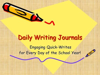 225 Daily Quick-Write Journal Prompts for Middle School BUNDLE