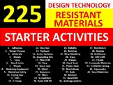 225 Resistant Materials Design Technology Starter Settler Activities Keywords