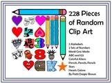 228 Random Clip Art PNG Creations for Teachers