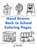 23 Back to School Coloring Pages (Perfect for Centers, Fir