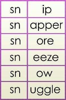 23 Beginning Blends - Make words with different blends