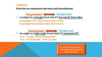 2.3 - Biconditional Statements - Lesson PowerPoint