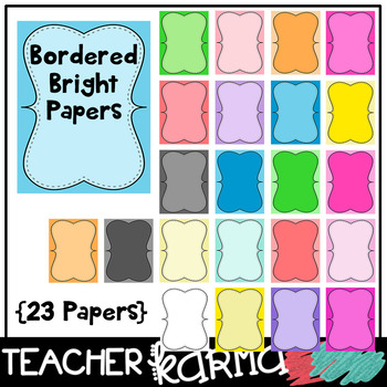 23 bordered papers product covers design templates by teacher karma
