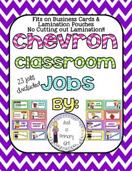 23 Chevron Classroom Jobs Business Card Size