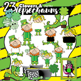 23 Clovers and Leprechauns for St. Patrick's Day - clip art for teachers