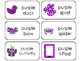 23 Color Purple Printable Flashcards. Preschool-Kindergarten