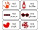 23 Color Red Printable Flashcards. Preschool-Kindergarten