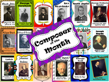 23 Composer of the Month Bulletin Boards