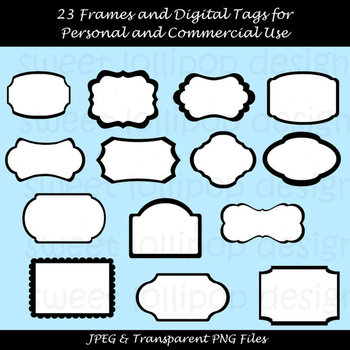 69 Digital Frames Clip Art or Clipart - Digital Tags Clip Art