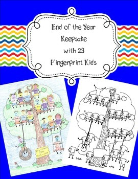 23 Fingerprint Kids End of the Year and Autograph Memory Page