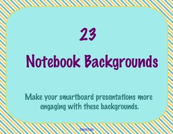 23 Framed SMART Notebook / SMART board Backgrounds