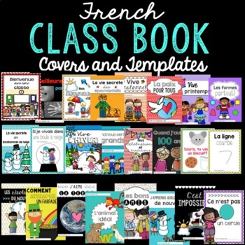 23 French Class Books Writing Activity for the year (l'écriture)
