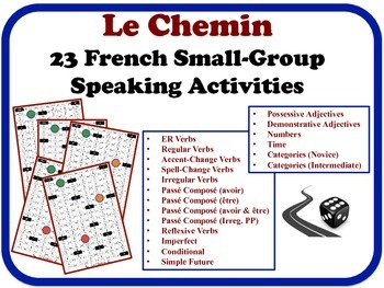 23 French Small-Group Speaking Activities.  Quick Set-Up, No Prep