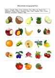 23 Fruits - A Worksheet