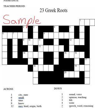 23 Greek Roots Mini-Packet