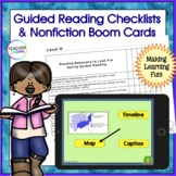 Guided Reading Checklist 1st, 2nd & 3rd & DIGITAL Boom Cards Reading Nonfiction