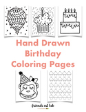 23 Hand-Drawn Birthday Coloring Pages (Class Books, Children's/Class Parties)