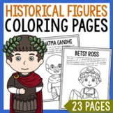 Historical Figure Coloring Page Crafts or Posters with Informational Text
