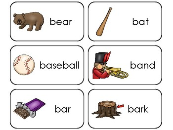 23 Letter Bb Printable Picture and Word Flashcards. Preschool-Kindergarten
