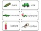 23 Letter Cc Printable Picture and Word Flashcards. Preschool-Kindergarten