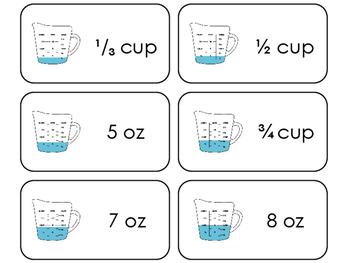 23 Liquid Measurement Printable Flashcards. 1st Grade- 5th Grade Math.