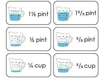 23 liquid measurement printable flashcards 1st grade 5th grade math. Black Bedroom Furniture Sets. Home Design Ideas