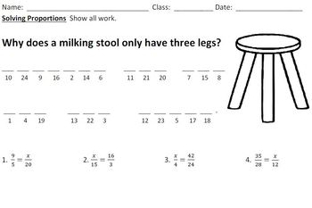 23 Math Jokes Worksheets for Pre-Algebra and Algebra.