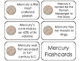 23 Mercury Printable Planetary Facts Flashcards. Astronomy
