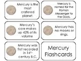 23 Mercury Printable Planetary Facts Flashcards. Astronomy