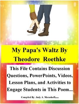 My Papa's Waltz by Theodore Roethke Teacher Supplemental Resources Fun Engaging