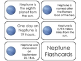 23 Neptune Printable Planetary Facts Flashcards. Astronomy