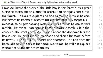 23 Orton Gillingham Phonics Decodable Passages and Running Records-Level 2