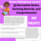 23 Orton Gillingham Phonics Decodable Passages and Running