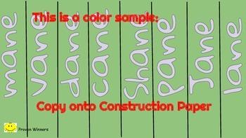 23 Phonics LONG Vowel Families: Paper Chains Literacy Center Common Core ESOL